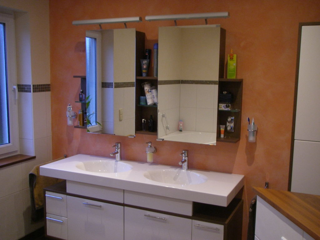 Badsanierung mit Doppelwaschbecken